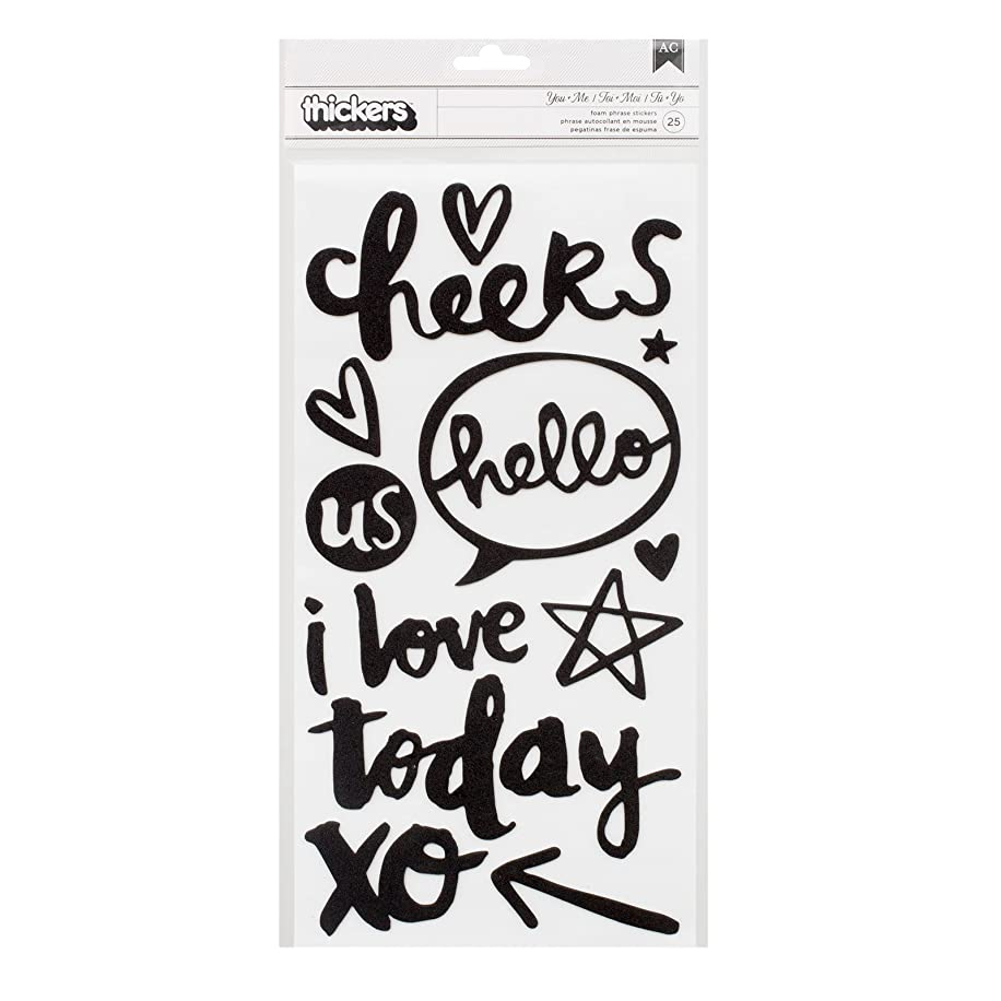 American Crafts Amy Tan Better Together Black Foam Word Thickers