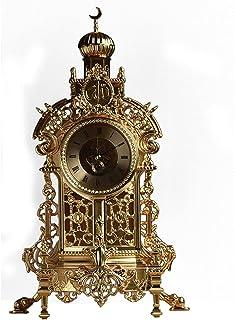 XinQing-Desk clock الأوروبية العتيقة صامت ساعة غرفة نوم على مدار الساعة الكلاسيكية فندق الأخضر البرونزي ساعة فندق كوارتز ساعة