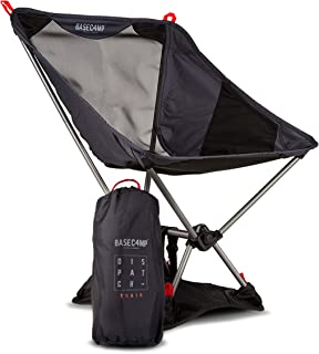 Lightweight Portable Chair - Camping, Backpacking, Hiking - Includes Sand Base - Small Compact Low Folding Design - Beach, Golf, Fishing, Sports & Outdoors - Ultralight 2.1LBS - Supports 250LBS