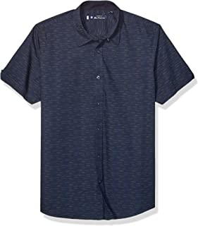 Ben Sherman Mens BA19F9062S Ss Dashed Dot Print Shirt Button Down Shirt