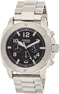 Fossil Modern Machine Men's Black Dial Stainless Steel Band Watch - FS4926