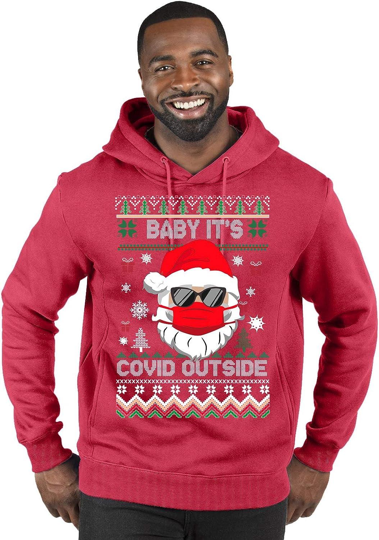 Santa Baby Its Covid Outside Pandemic Ugly Christmas Sweater Unisex Crewneck Graphic Sweatshirt