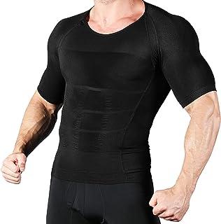 SUTOMO加圧シャツ メンズ 加圧インナー コンプレッションウェア 【2020年 超加圧版】 脂肪燃焼 ダイエット 猫背矯正 筋トレ トレーニング 姿勢矯正 お腹引締 補正下着 (ブラック L)ブラック LM-L