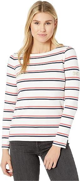 Cream/Red/Blue Stripe