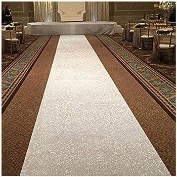 Tapis dall/ée de Mariage Blanc 91 x 10 m avec imprim/é ondul/é pour int/érieur et ext/érieur 2/×30 ft Blanc