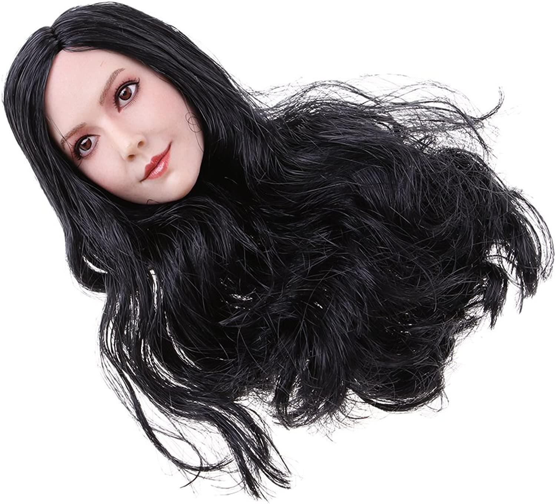Homyl 1 6 Scale Female Body Long Hair Sculpt Sculpture for 12'' TTL Action Figure Toys