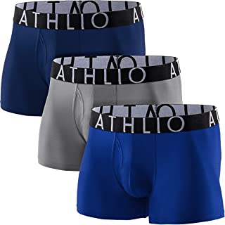 ATHLIO(アスリオ) ボクサーパンツ メンズ [吸汗速乾・通気性] スポーツ アンダーウェア ボクサーブリーフ アンダーパンツ 男性