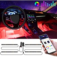 Govee Car LED Strip Light Upgrade Two-Line Design Waterproof 4pcs 48 LED APP Controller Lighting Kits
