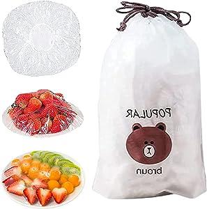 100pcs Fresh Keeping Bags,Reusable Elastic Food Storage Covers, Plastic Sealing Elastic Stretch Bowl Lids, Universal Kitchen Wrap Seal Caps