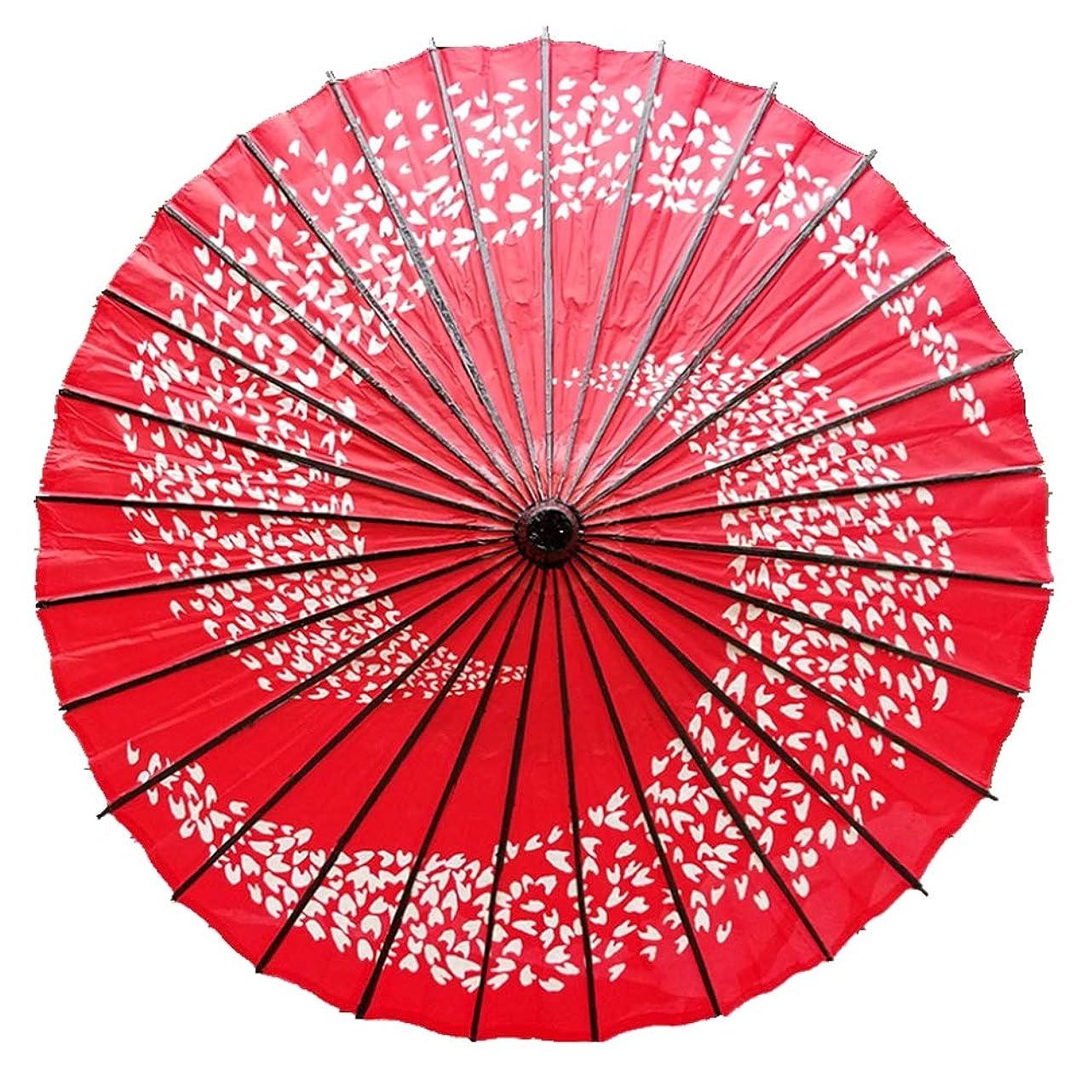 ILuvic 和傘 紙傘 踊り傘 日傘 舞踊 桜吹雪 和風 飾り用 防水 和服 長傘 コスプレ 花火