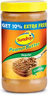 Sundrop Peanut Butter,Crunchy, 462g with Free 46g