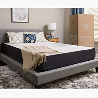 Sealy 10-Inch Memory Foam Bed in a Box, Medium-Firm, Queen