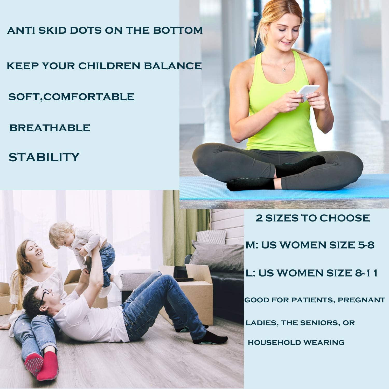 Heim- und K/örperbalance Trampolin Ballett Sox UK 4-10 // EU 35-43 Fitness Reha Kampfsport 4 Paare Yoga Yoga Socken Anti-Rutsch-Socken f/ür Damen Pilates Tanz Krankenhaus Barre