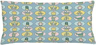 4Pcs 18X18 Inch Funda De Cojín De Almohada Suculenta,Imagen Gráfica De Estilo De Dibujos Animados De Cactus De Plantación En Macetas Elementos Botánicos,Funda De Almohada Decorativa Rectangular