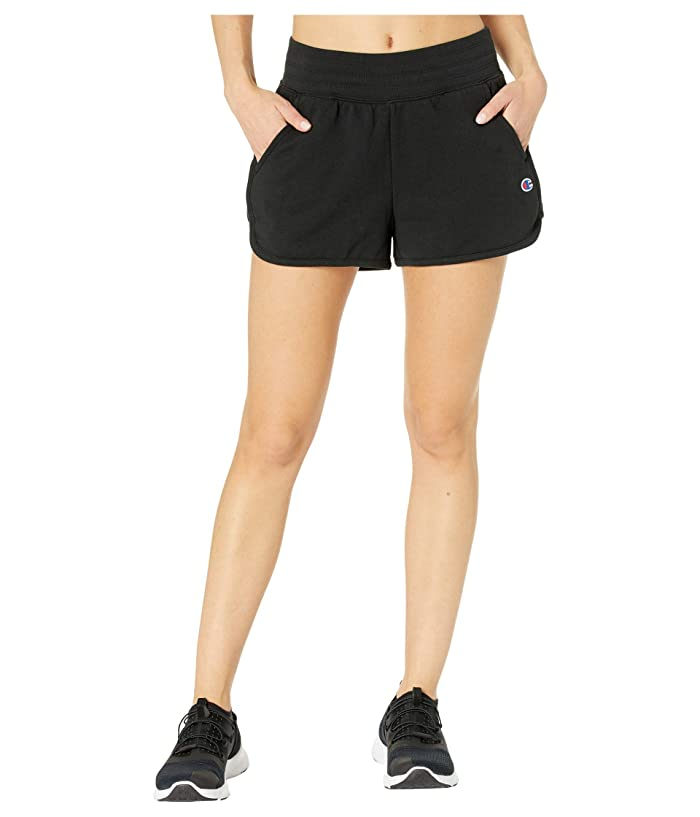 Champion  Campus French Terry Shorts (Black) Womens Shorts