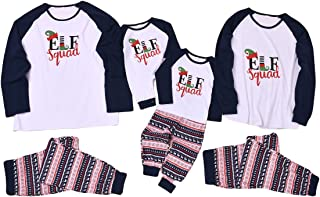 Haokaini Christmas Family Matching Payjama, Mom Dad Kids Xmas Sleepwear Baby Romper Outfits Set