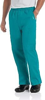 Men's Comfort 7-Pocket Elastic Waist Drawstring Cargo Scrub Pant