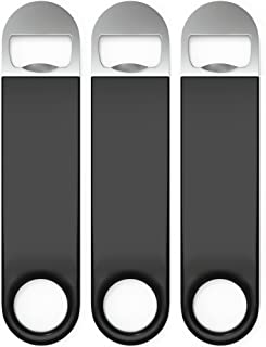 Axim USA Premium Cold One Bartender Bottle Openers, Beer Bottle Openers, Speed Openers 3 Pack. Professional Grade: Rubber Coated, Stainless Steel. 7 inch
