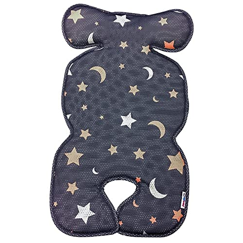 Agibaby 3D Air Mesh Cool Seat Pad/Cushion/Liner/Protector for Stroller and Car Seat (Shiny Star) - Hand Made and Hypoallergenic