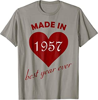 61st Birthday Vintage Made in 1957 Gift ideas Woman T shirt