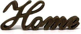 CVHOMEDECO. Letrero de Madera con Texto en inglés Free Standing Home Desk/Table/Shelf/Home Wall/Office Decoration Art, 11-3/4 x 4-1/4 x 1 Inch