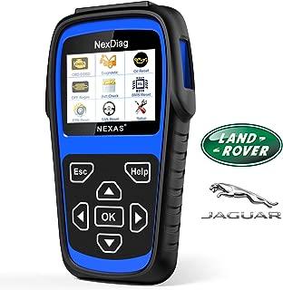 Diagnostic Scanner Tool Automotive Scanner for Land Rover & Jaguar, NEXAS ND602 OBDII OBD2 Scanner Fault Code Reader for Engine/Transmission/ABS/SRS/EPB/DPF Regen/Battery Register/SAS & Oil Reset