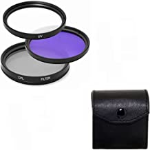 Maxsimafoto   High quality 40 5mm filter set UV  CPL and FLD for Sony Alpha A5000 A5100 A6000 A6300 A6500 Digital Camera with 16-50mm Power Zoom Lens