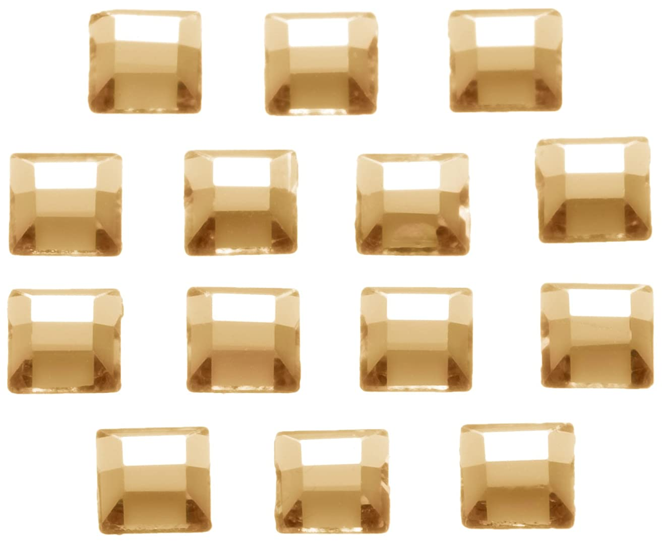 ハンディしてはいけませんネブネイルアートパーツ スクエア型クリスタルゴールデンシャドウ 3.0mm 36P