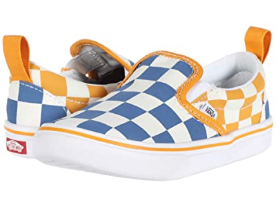 Vans Kids ComfyCush Slip-On V (Infant/Toddler) ((Big Checker) True Blue/Cadmium Yellow) Boys Shoes