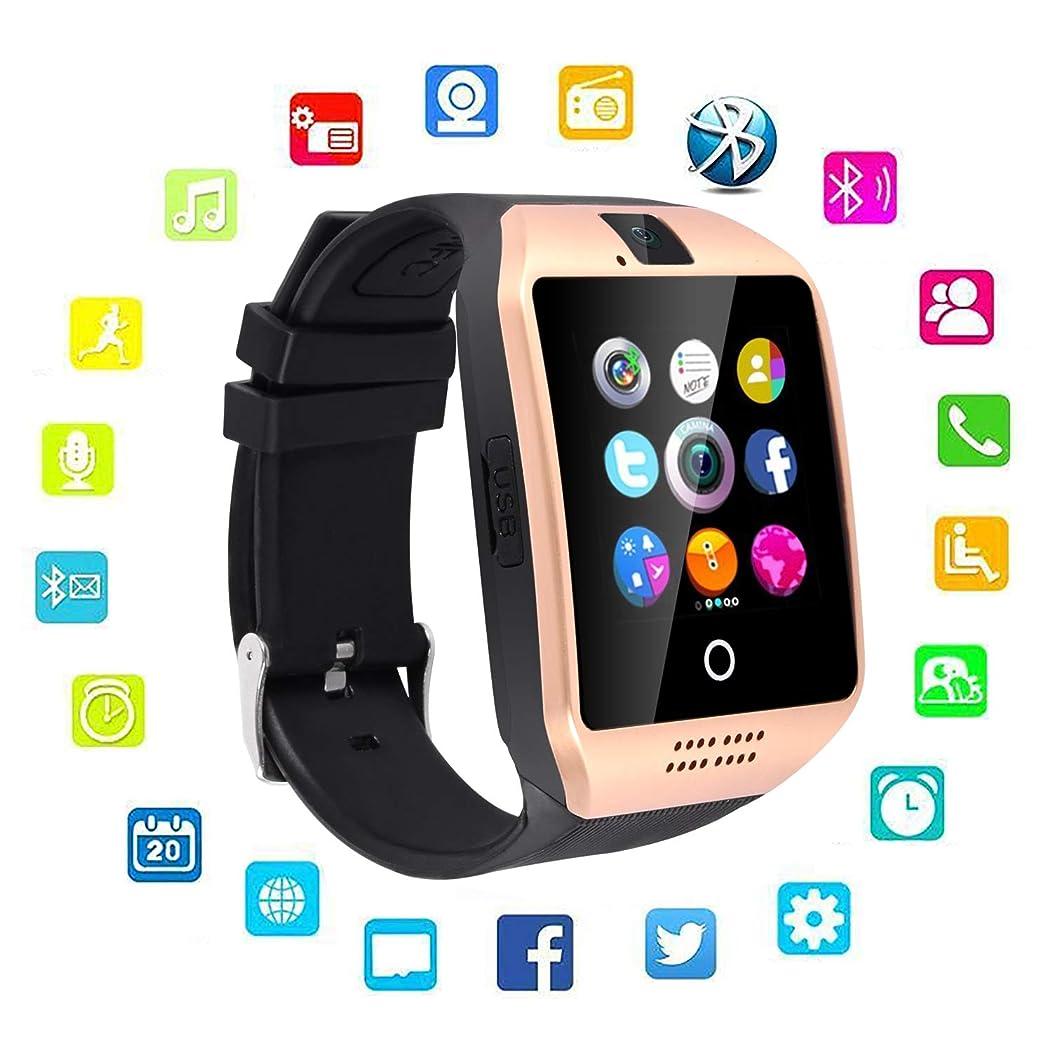 Upgraded New Bluetooth Smart Watch Cell Phone Watch (q18golden)