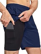 "TSLA Men's Active Running Shorts, Training Exercise Workout Shorts, Quick Dry Gym Athletic Shorts with Pockets 7"""