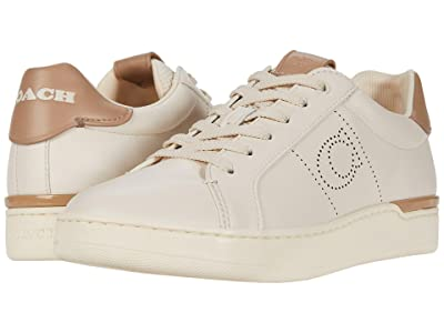 COACH Lowline Low Top (Chalk/Taupe Smooth Leather) Women