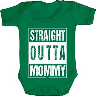 Geschenkidee Gangster Hip Hop Strampler Bio Baumwoll Baby Body kurzarm Straight Outta Mommy