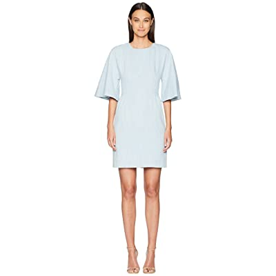 Adam Lippes Corded Denim Sculpted Mini Dress (Light Indigo) Women