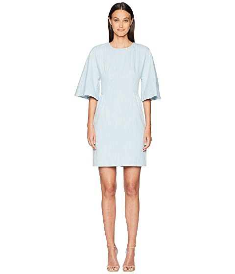 Adam Lippes Corded Denim Sculpted Mini Dress