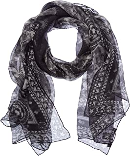 Givenchy GW7020 SE039 2 Black Scarf for Womens