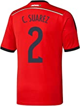 adidas C. Suarez #2 Mexico Away Jersey World Cup 2014 Youth.