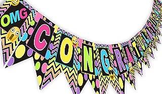 Emoji Rainbow Congratulations Banner Pennant - Graduation Banner - Shower Banner - Emoji Party