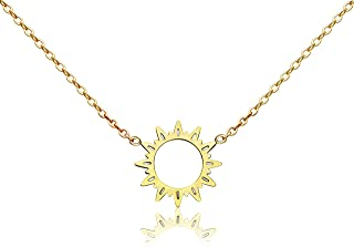 tiny sun necklace