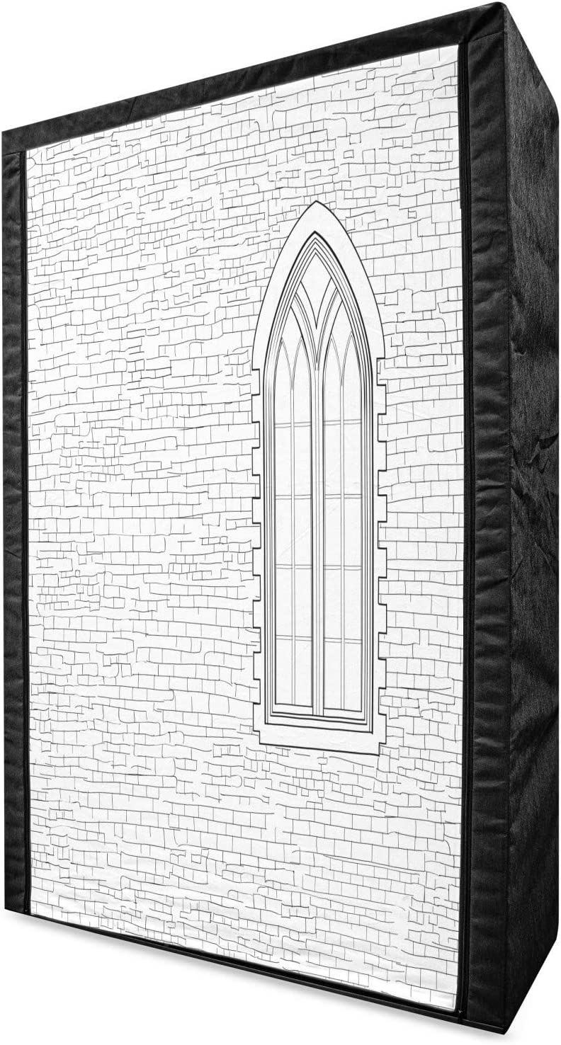 Ambesonne Brick Wall excellence Portable Japan's largest assortment Fabric Shabby Wardrobe Sketc