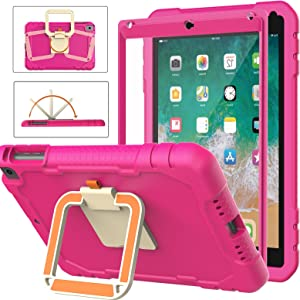 BMOUO iPad 6th/5th Generation Case for Kids,iPad 9.7 Kids Case,iPad Air 2 Case for Kids,Built-in Screen Protector,[360° Rotating Handle Stand] Shockproof Lightweight Case for iPad 9.7