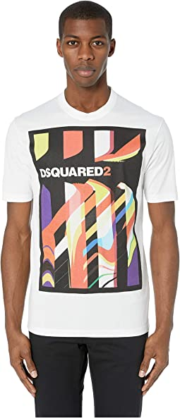 Abstract Stud Fit T-Shirt