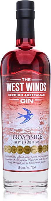 The West Winds Broadside Navy Strength Gin, 700 ml