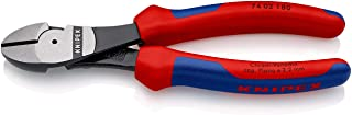 Knipex Tools High Leverage Diagonal Cutter, 74 02 180, Black, 180 mm, 6 Pieces