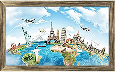 ArtzFolio Monument Concept Tabletop Painting Antique Golden Frame 9.2 X 6Inch