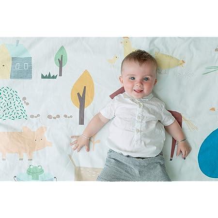 LULANDO Tappetino antiscivolo Forest serie Art Collection 150 cm x 130 cm tappeto gioco tessuto non tessuto poliestere anallergico 100/% cotone tappeto antiscivolo da gioco