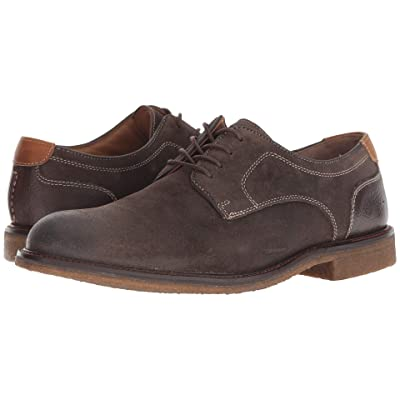 Johnston & Murphy Copeland Plain Toe (Gray Water-Resistant Oiled Suede) Men