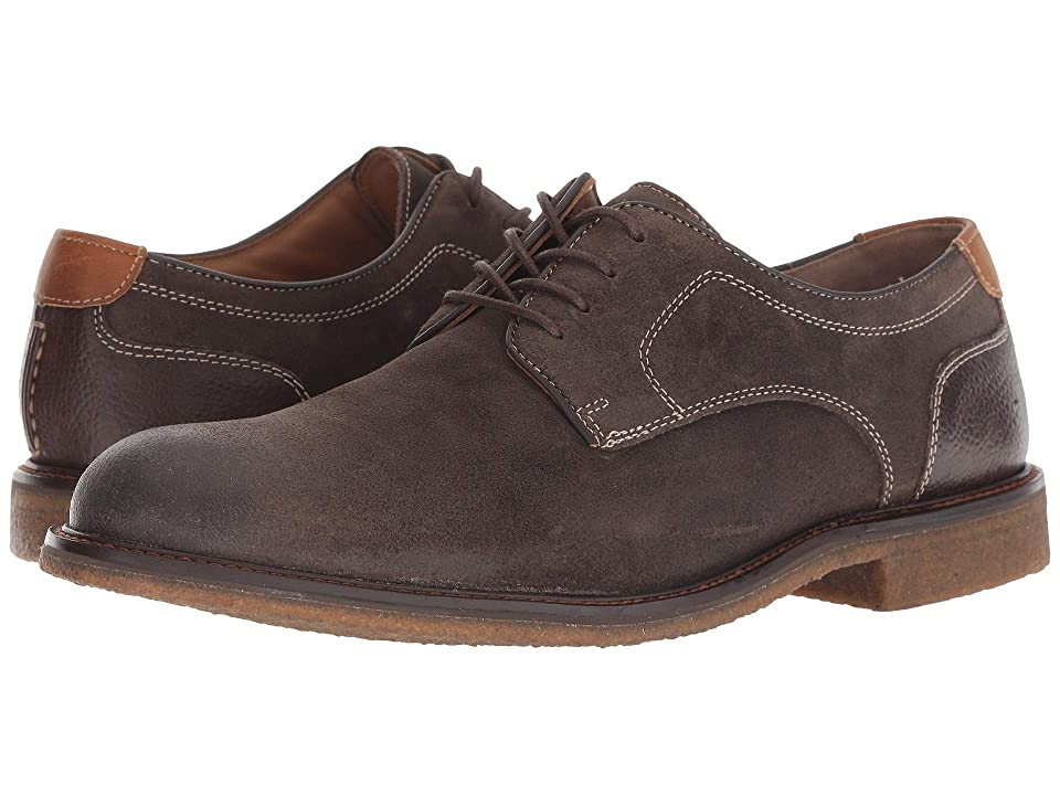 Johnston & Murphy Copeland Plain Toe (Gray Water-Resistant Oiled Suede) Men