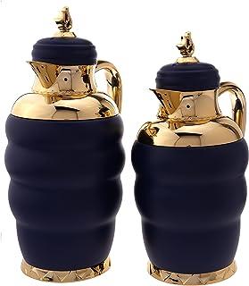 جسم مقاوم للصدأ، غطاء محكم، يحتوي على اثنين من الأحجام 1.0/0.7 لتر ويحافظ على البرودة لمدة 24 ساعة وعلى السوائل الساخنة 12...