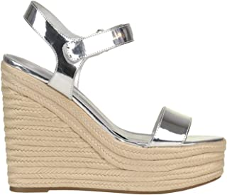 Luxury Fashion | Kendall + Kylie Women MCGLCAT0000C7125E Silver Leather Wedges | Season Outlet